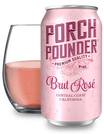 Porch Pounder Brut Rosé 375ml - 12PK