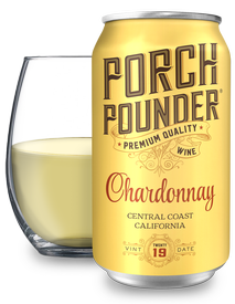 Porch Pounder Chardonnay 375ml - 12PK